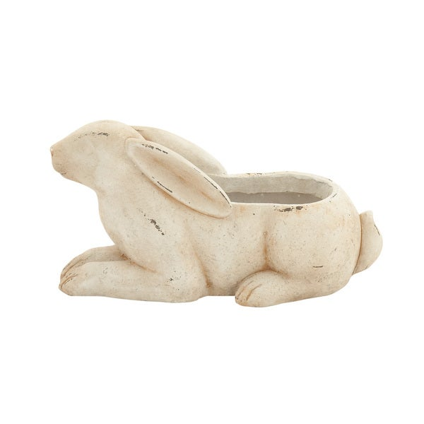MGO Rabbit Flower Pot, Cream