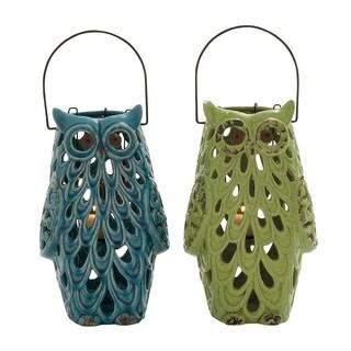 Owl Lantern 2 Assorted