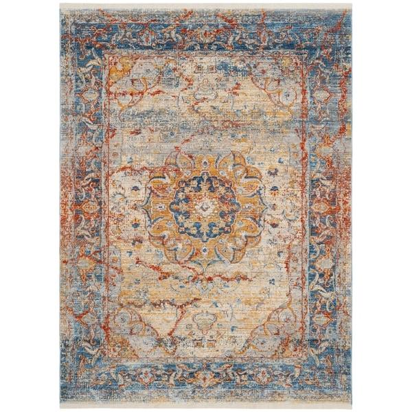 Safavieh Vintage Persian Blue Multi Polyester Rug 3 X 5