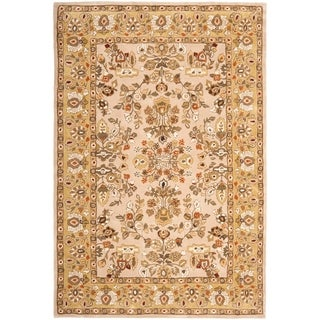 Safavieh Hand-hooked Total Perform Ivory/ Gold Acrylic Rug (6' x 9')
