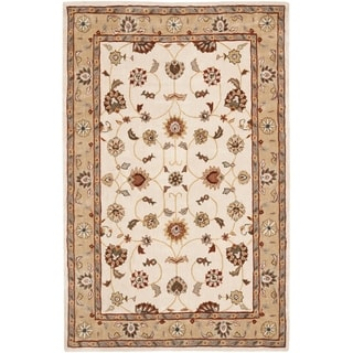 Safavieh Hand-hooked Total Perform Ivory/ Beige Acrylic Rug (6' x 9')