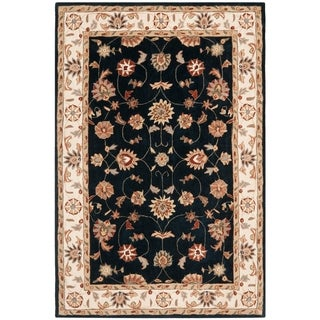 Safavieh Hand-hooked Total Perform Navy/ Ivory Acrylic Rug (6' x 9')