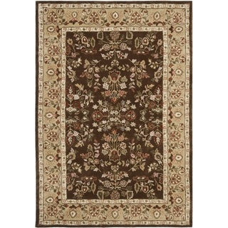 Safavieh Hand-hooked Total Perform Brown/ Green Acrylic Rug (6' x 9')
