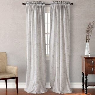 Tommy Bahama Canopy Way Grey Curtain Panel (Pair)
