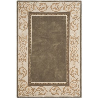 Safavieh Hand-hooked Total Perform Olive/ Ivory Acrylic Rug (6' x 9')