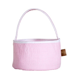 Trend Lab Gingham Seersucker Personalized Collapsible Round Caddy