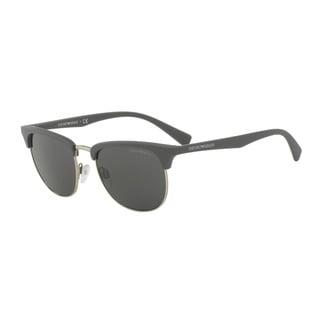 Emporio Armani Men's EA4072 550287 Grey Plastic Square Sunglasses