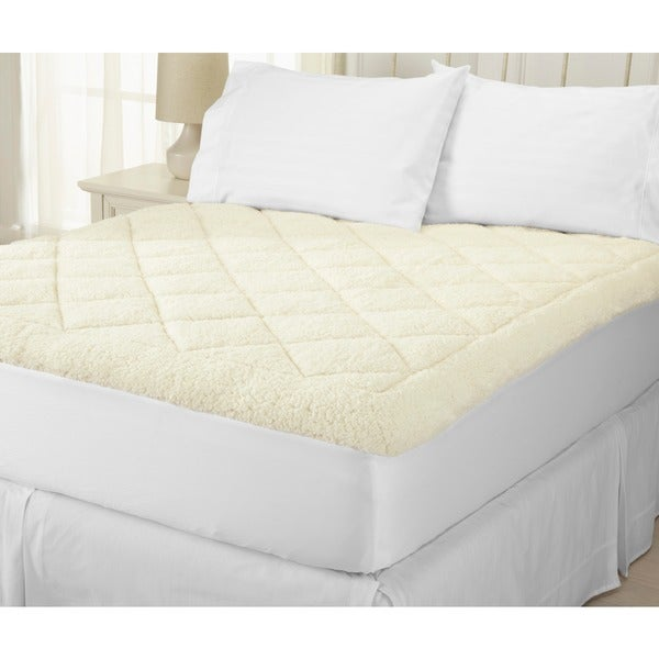 Home Fashion Designs All-Season Two-in-One Reversible Sherpa Fitted Mattress Pad