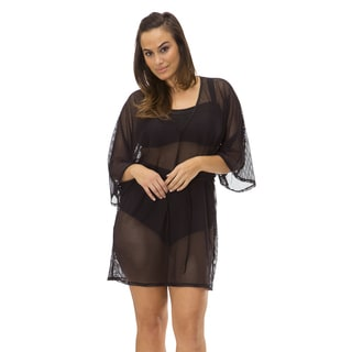 Women's Plus Mesh Laser Cut Coverup by Mazu Swim