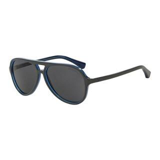 Emporio Armani Men's EA4063F 546787 Grey Plastic Pilot Sunglasses
