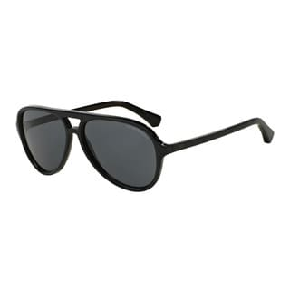 Emporio Armani Men's EA4063F 546687 Blue Plastic Pilot Sunglasses