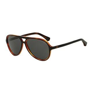 Emporio Armani Men's EA4063F 546487 Black Plastic Pilot Sunglasses