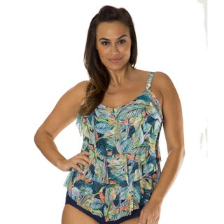 Leaf Play Women's Plus Tankini by Mazu Swim