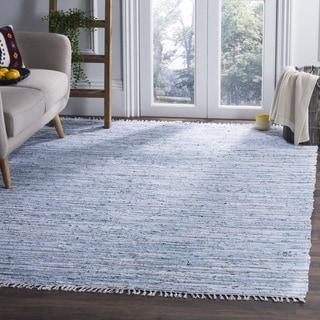 Safavieh Hand-Woven Rag Rug Light Blue/ Multi Cotton Rug (5' x 7')