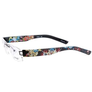 Ed Hardy EHL-804 Lite Silver Designer Eyeglasses