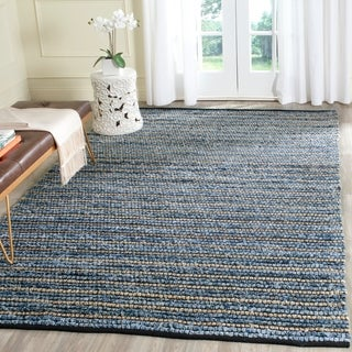 Safavieh Hand-Woven Cape Cod Blue/ Natural Cotton Rug (6' x 9')