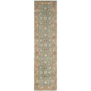 Safavieh Hand-hooked Total Perform Sage/ Copper Acrylic Rug (2' 3 x 9')