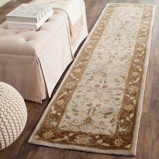 Safavieh Hand-hooked Total Perform Ivory/ Taupe Acrylic Rug (2' 3 x 9')