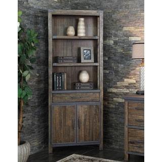 Rieshel Distressed Wood Bookcase