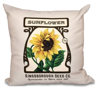 Sunflower Floral 20 x 20-inch Outdoor Pillow