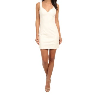 Minkpink Pearl Of A Girl White Faux Leather Dress