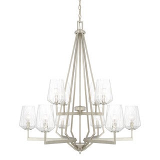 Capital Lighting Arden Collection 10-light Brushed Silver Chandelier