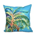 Vacation Floral Print 18 x 18-inch Outdoor Pillow