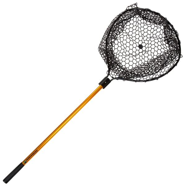 Wakeman Fishing Retractable Rubber Landing Net - 35 Inch Handle