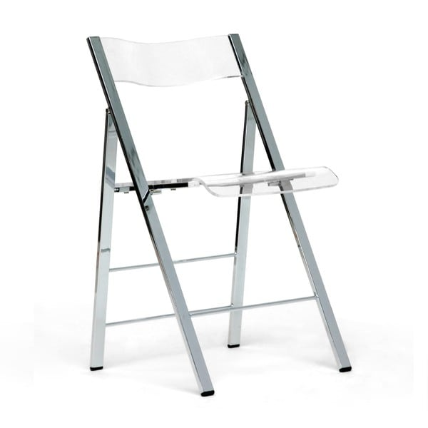 Acrylic Folding Chairs Set of 2 Overstock Shopping Great