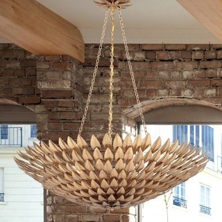 Crystorama Broche Collection 8-light Antique Gold Chandelier