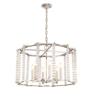 Crystorama Carson Collection 6-light Polished Nickel Chandelier