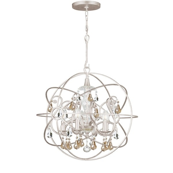 Crystorama Solaris Collection 5-light Olde Silver Chandelier 18246522