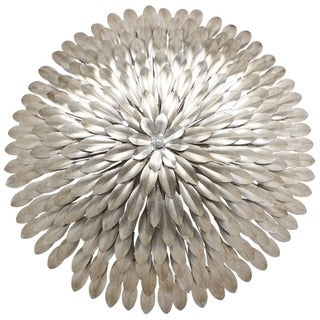 Crystorama Broche Collection 6-light Antique Silver Wall Sconce