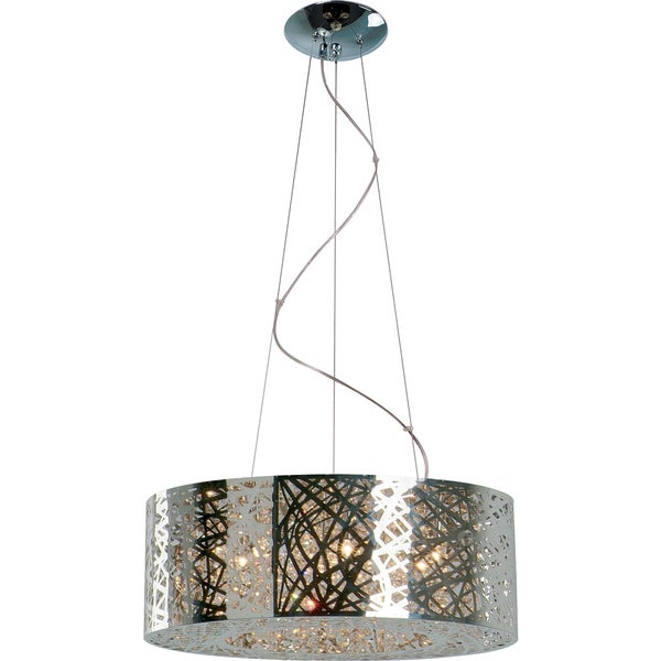 Silvertone Inca Multi-light Pendant