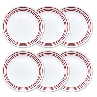 Corelle Livingware Ruby Red Lunch Plates (Set of 6)