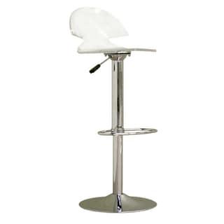 Clear Acrylic Adjustable Chromed Barstool