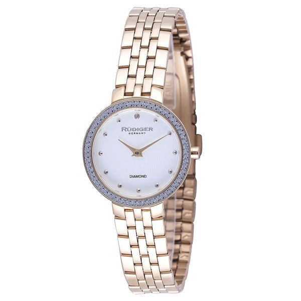 Rudiger Womens Hesse Stainless Steel Gold Watch