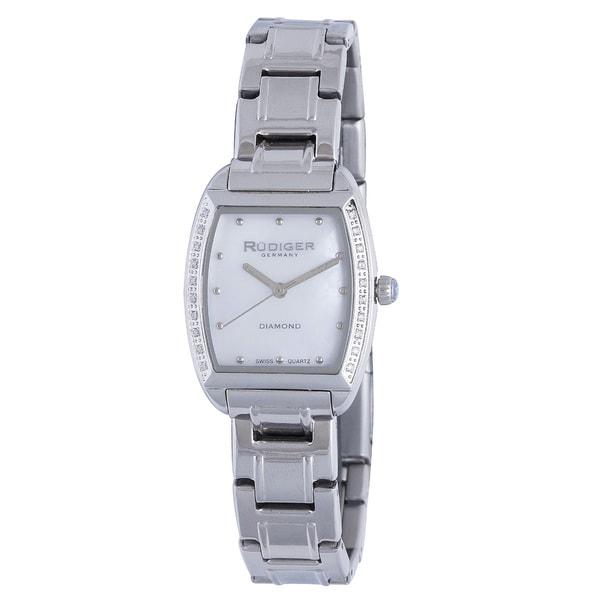 Rudiger Womens Bonn Stainless Steel Silver Watch
