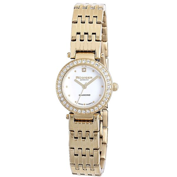 Rudiger Womens Essen Stainless steel Gold Watch