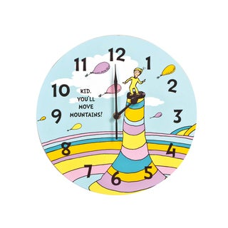 Trend Lab Home Decorative Dr. Seuss Kid You'll Move Mountains! Wall Clock