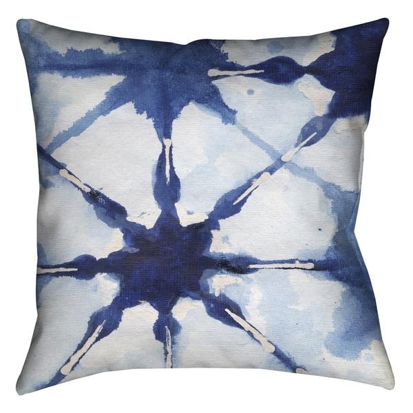 Laural Home Indigo Tie Dye II Decorative 18-inch Pillow