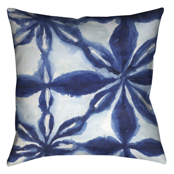 Laural Home Indigo Tie Dye I Decorative 18-inch Pillow