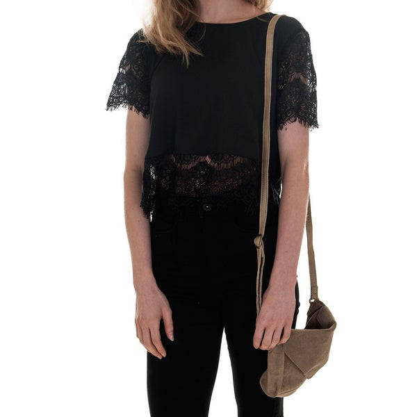 Minkpink Atlanta Black Lace Crop Top