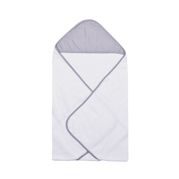 Trend Lab Perfectly Navy Grey Dot Baby Hooded Towel