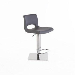 Hans Andersen Sarpi Grey Leatherette Adjustable Bar Stool
