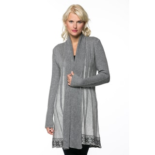 High Secret Women's Knit Printed Open Front Cardigan