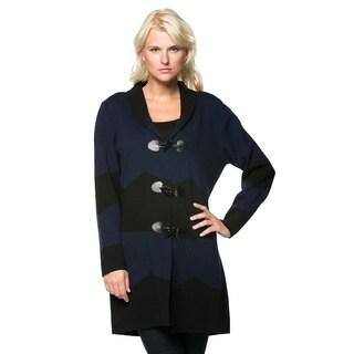 High Secret Women's Colorblock Toggle Closure Coat