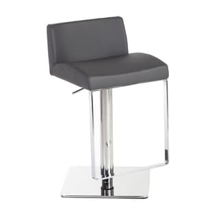 Hans Andersen Home Cairistiona Stool in Grey with Chrome Plating