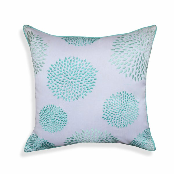 Tamara 20 x 20-inch Pastel Blue Floral Throw Pillow