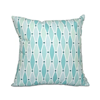 Wavy Geometric Print 20 x 20-inch Outdoor Pillow